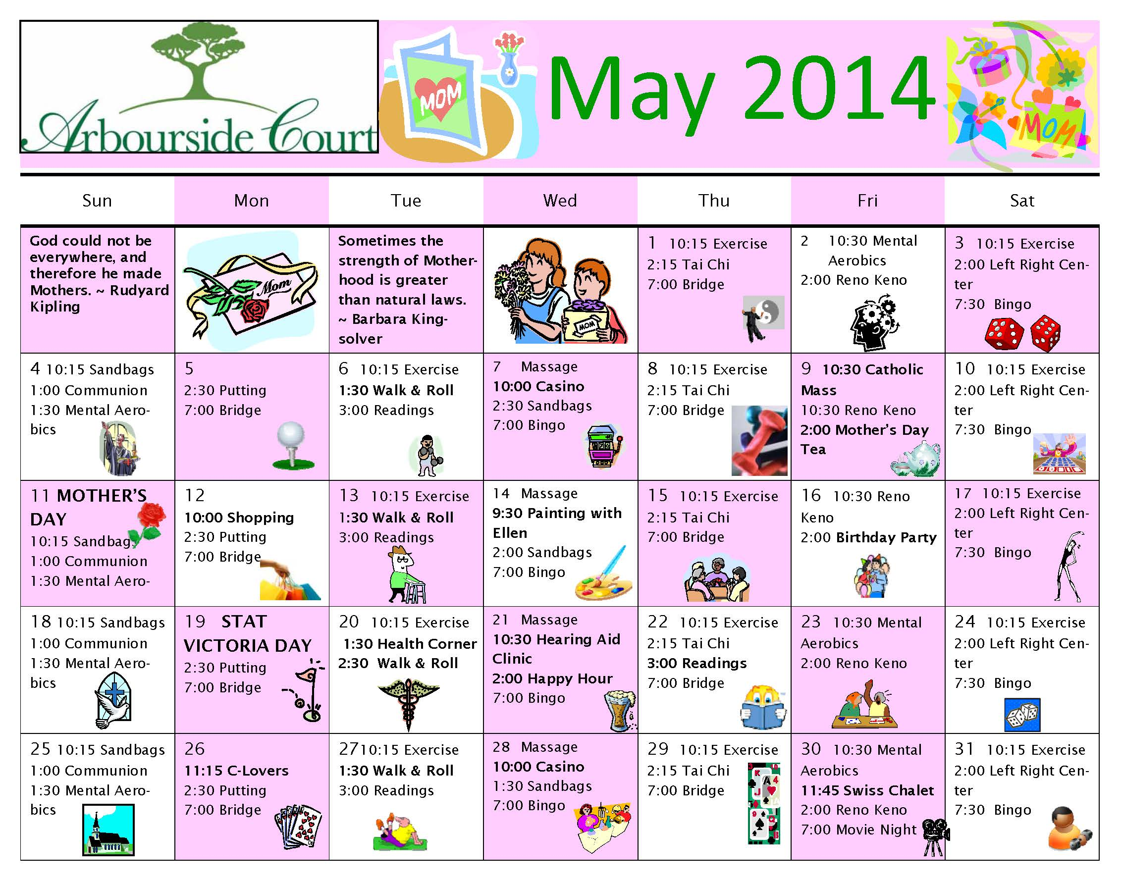 May Calendar Decorations : Side calendar new template site