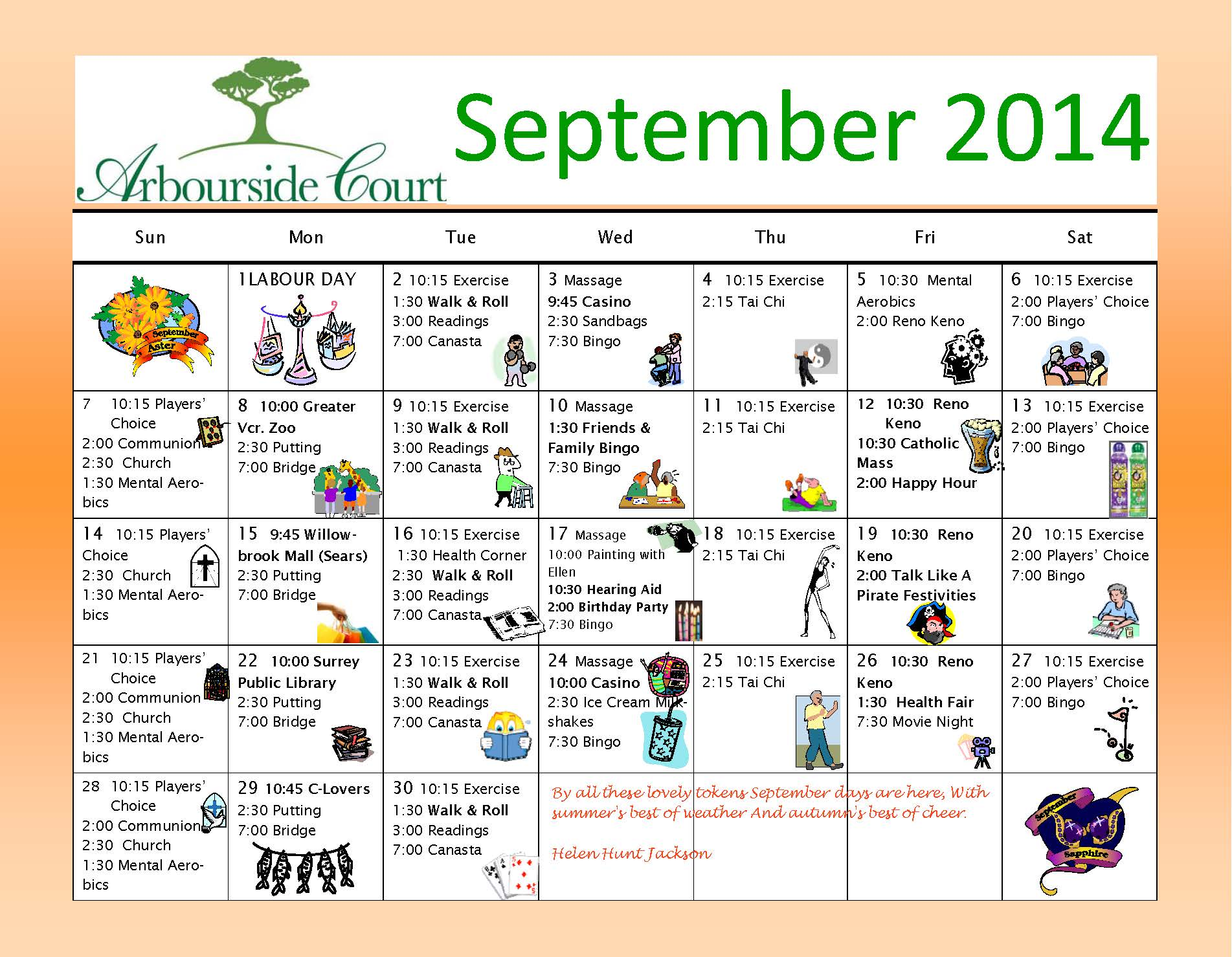 Calendar Ideas For Elderly : Senior activity calendar party invitations ideas