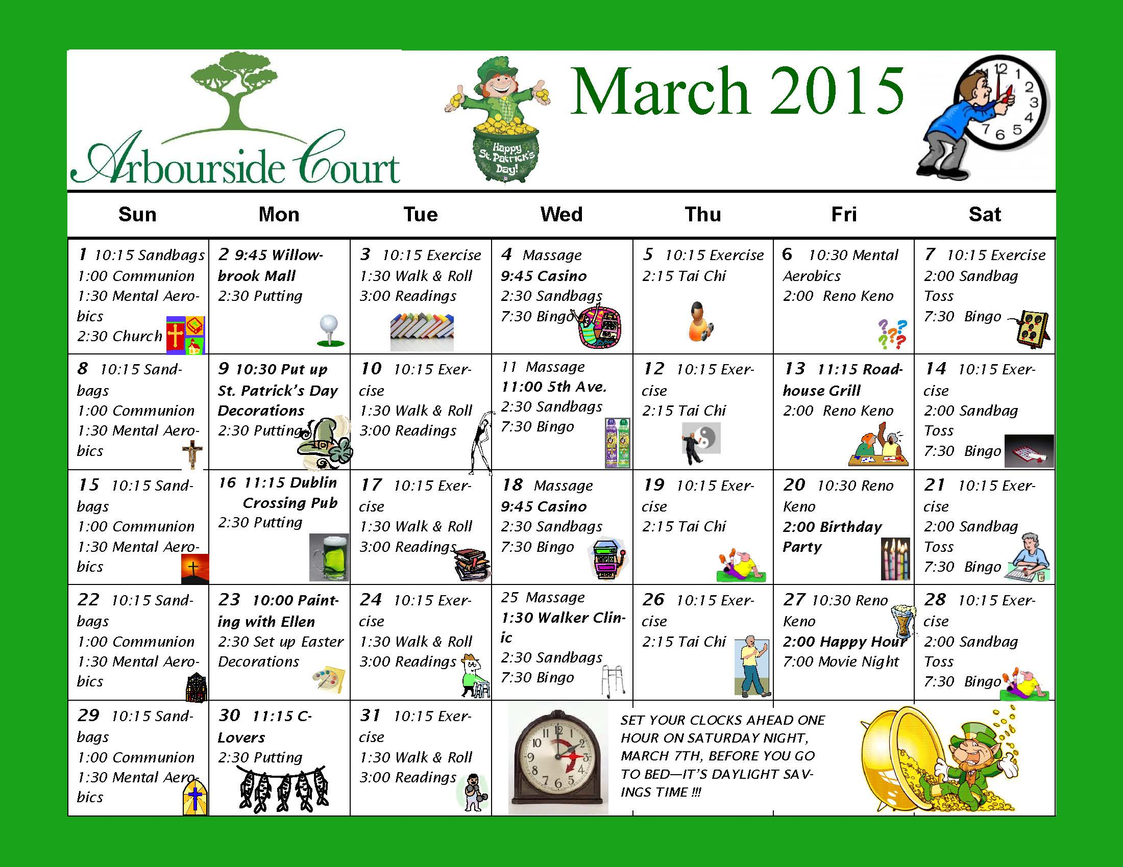 Calendar Ideas For March : Not just bingo activity calendar february autos post